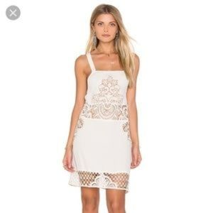 For Love and Lemons Backless Cream Dress XS D177
